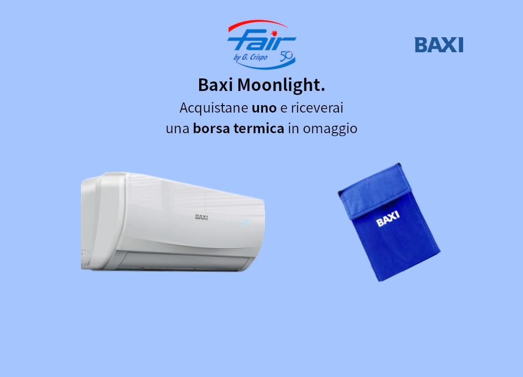 In regalo una borsa termica con un climatizzatore Baxi Moonlight presso la sede Fair di Catanzaro