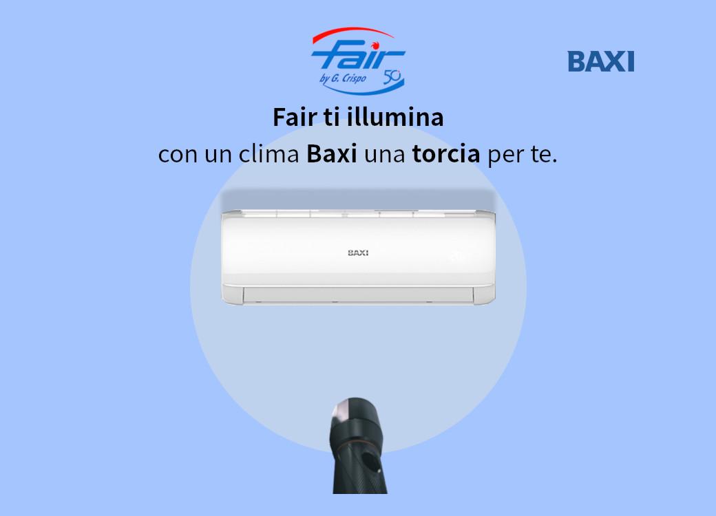 In regalo una torcia con un climatizzatore Baxi presso la sede di Catanzaro