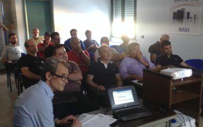 Corso di aggiornamento per istallatori Luna Team Baxi presso sede FAIR CATANZARO